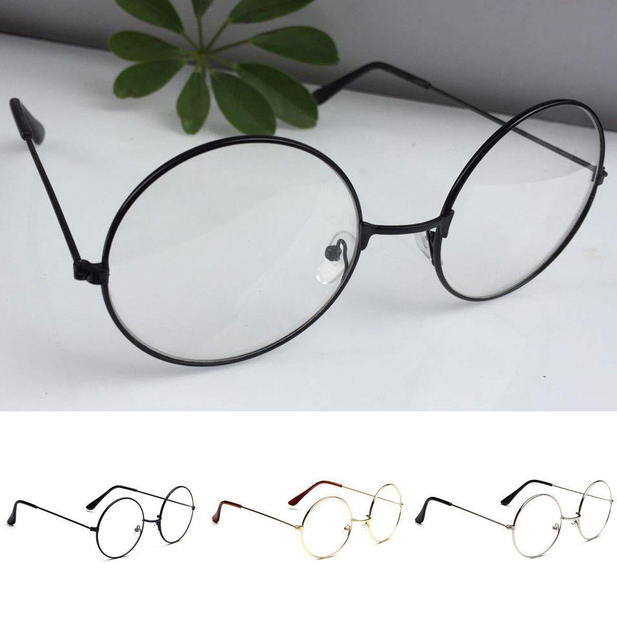 New! Women Large Oversized Lens Circle Glasses