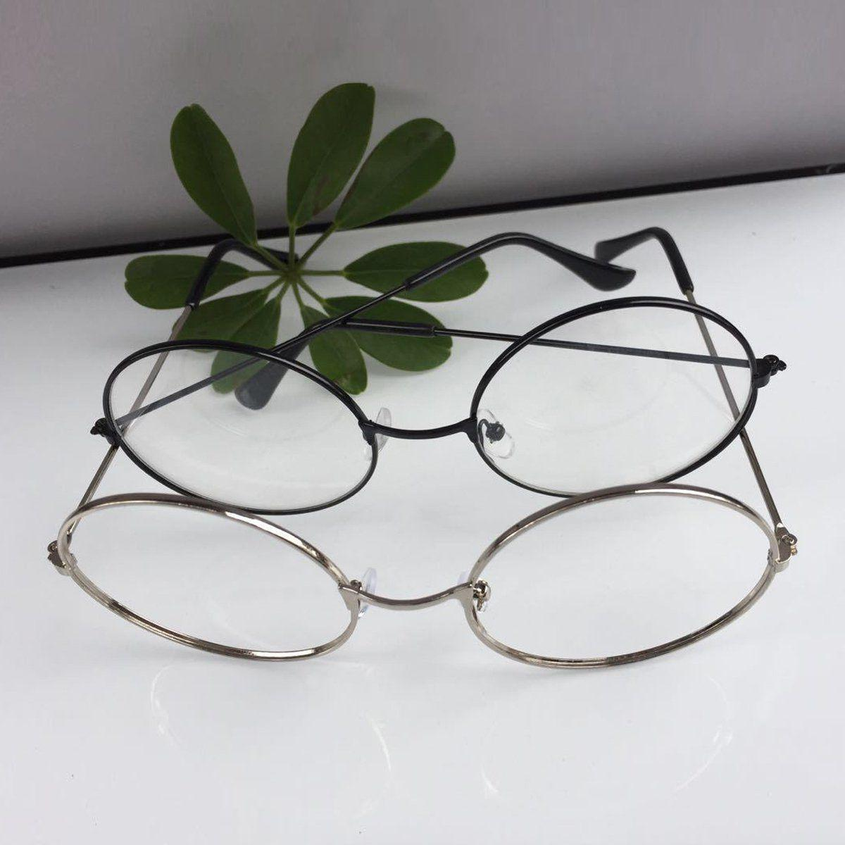 New! Women Men Oversized Frame Lens Eye Glasses