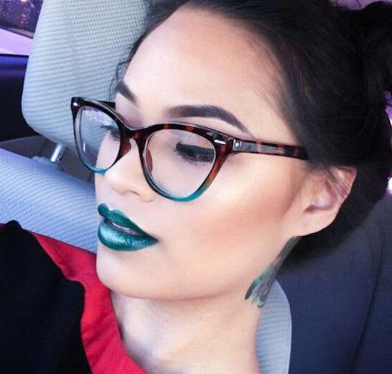 Retro Slim CAT EYE Women Fashion Eye Glasses Frames 1404