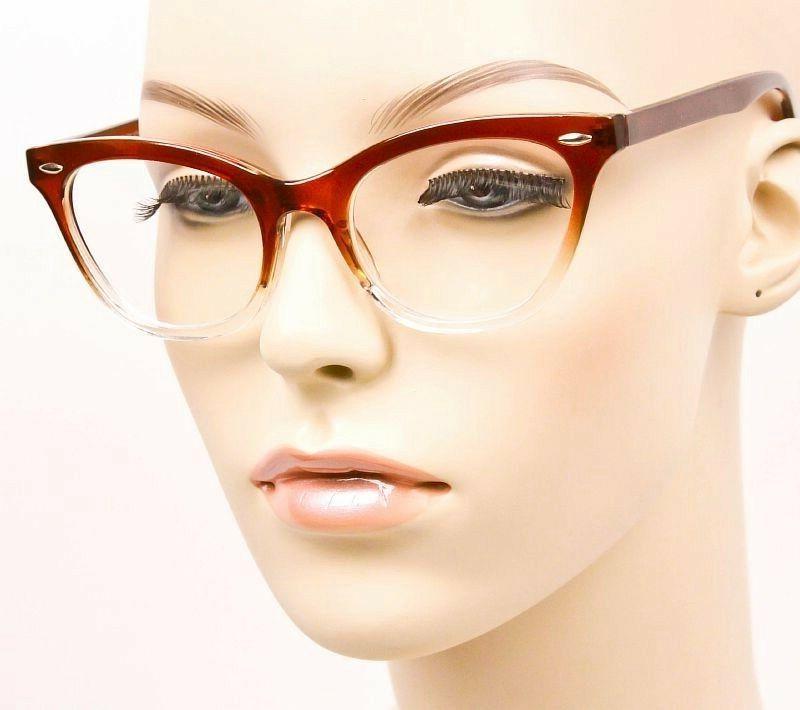 Ombre Frames Demi Clear Lens Glasses