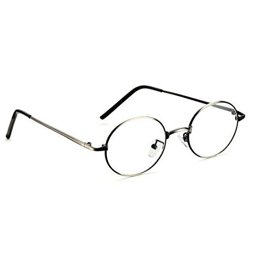 optical metal round oval circle eye glasses