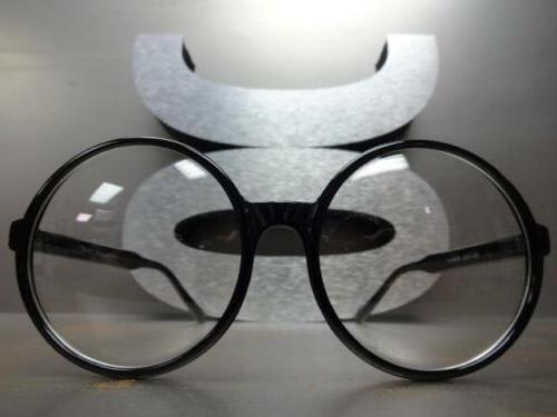 OVERSIZE Lens Round Black Fashion