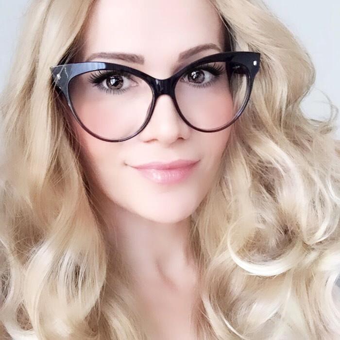 Oversized PinUP Girl Eyeglasses Rockabilly Glasses Frames