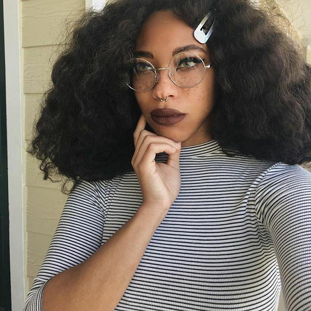 "Oversized ""MALINA"" Big Round Metal Glasses"