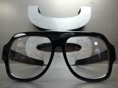 OVERSIZED VINTAGE Clear Lens GLASSES Large Fashion Frame