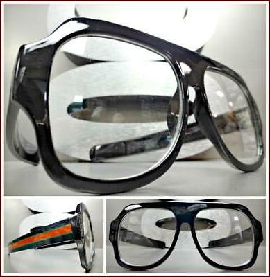 oversized vintage retro style clear lens eye