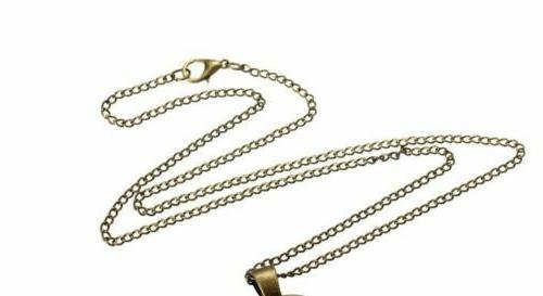 "OWL FEATHER EYE female 20"" necklace"