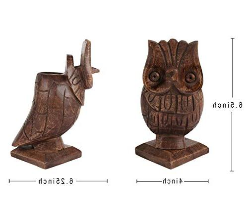 storeindya Thanksgiving Owl Shaped Pen Desk Organizer Funky Storage Case