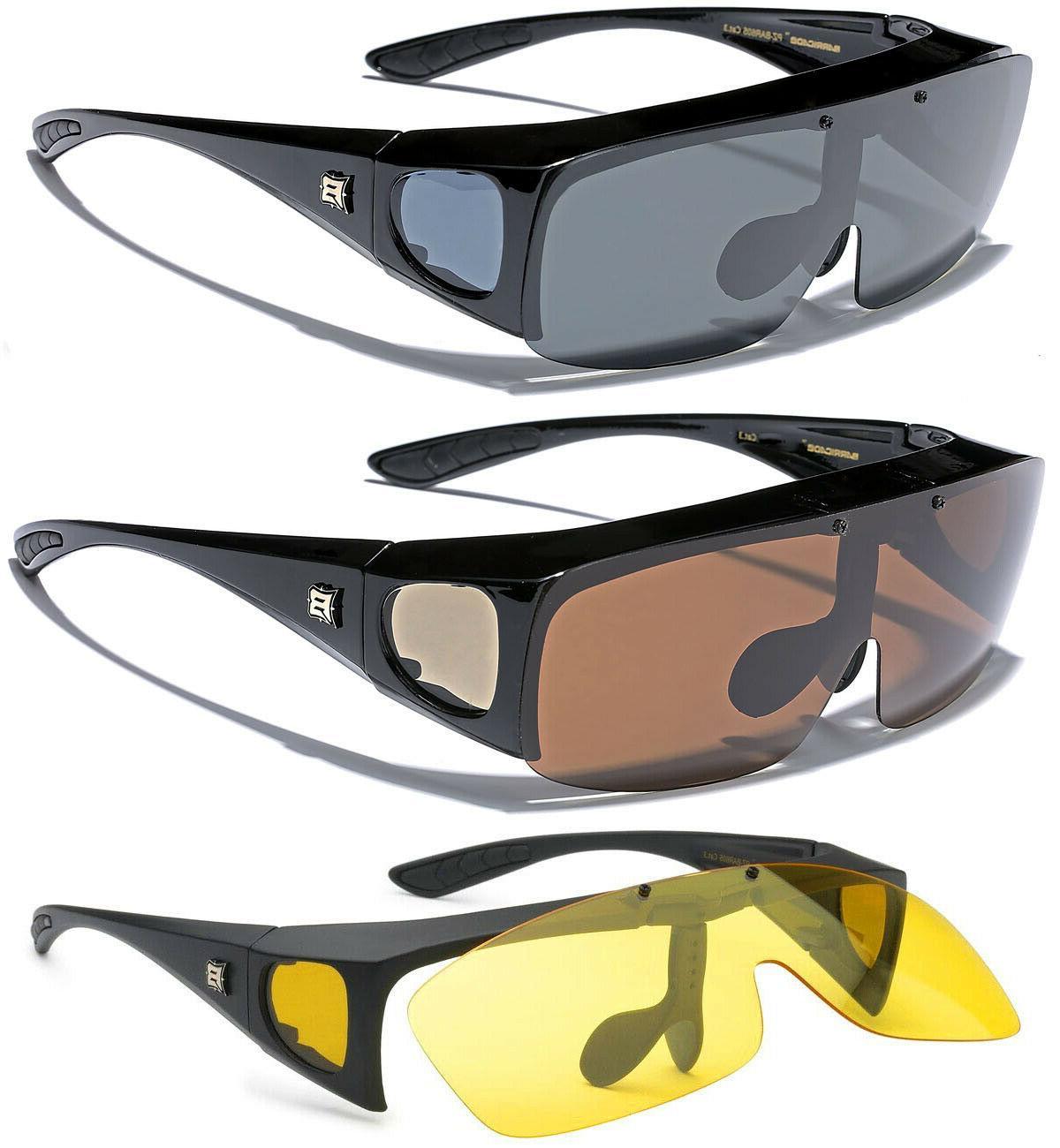 polarized men women flip up sunglasses fit