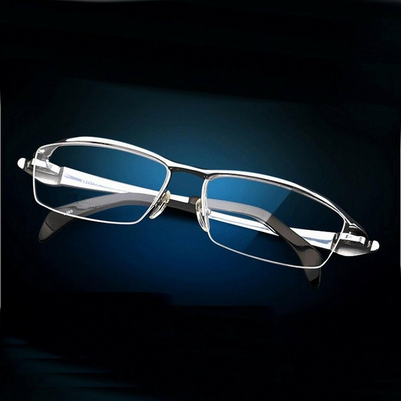 Pure Titanium Eye Glasses Men Half Frame Optical Prescriptio