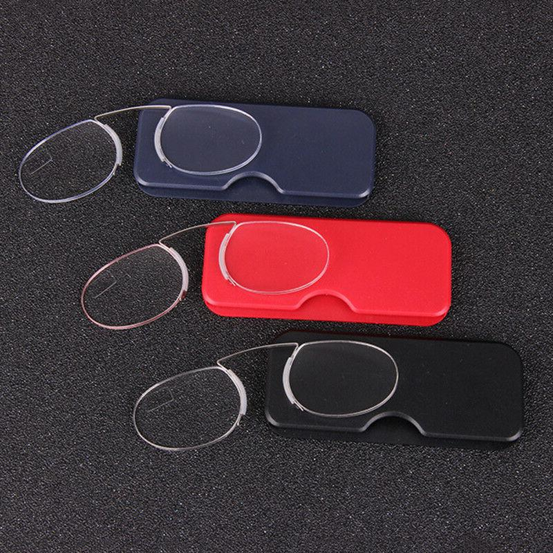 reading eye glasses nose clip mini case
