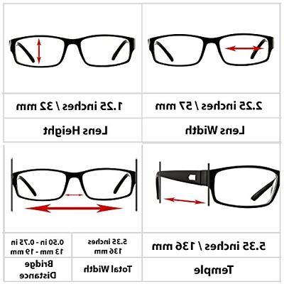 Reading Glasses 2.00  Pack Black Readers Men 9504
