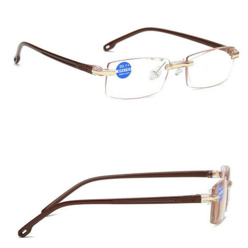Reading Glasses HD Blue Light Presbyopia Rimless