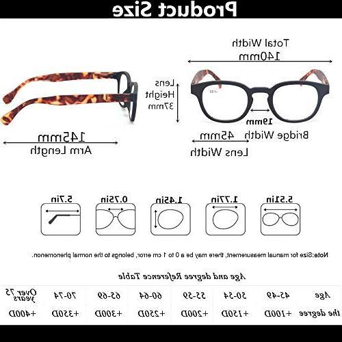 Reading Men and Women Hinge Eyeglasses for Reading