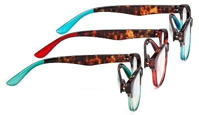 3 Great Value Spring Hinge Glasses