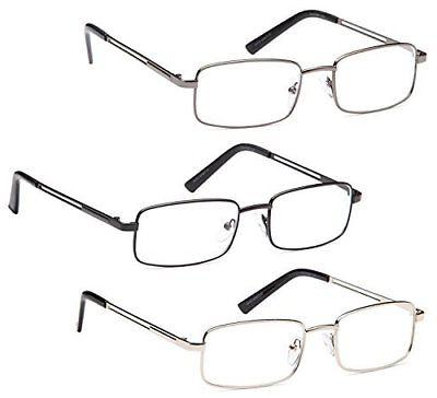 GAMMA RAY Rectangle Metal Reading Glasses -