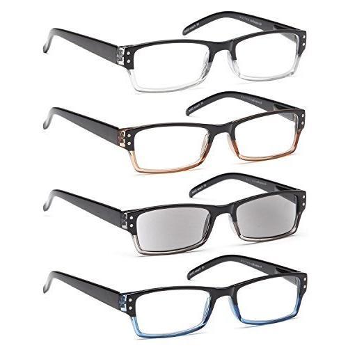 rectangular spring loaded reading glasses