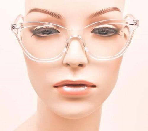 Retro Demi Clear Lens Cat Eye Designer Glasses