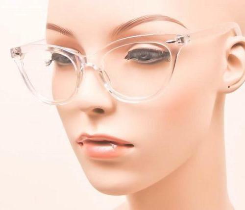 Retro Demi Frames Clear Cat