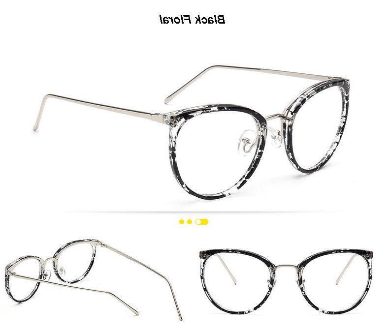 Retro Womens Clear Lens Eyeglass Frames Optical Computer 8