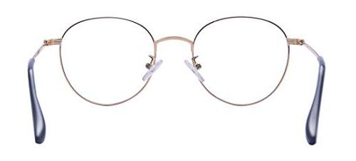 Outray Retro Metal Glasses Frame Clear Lens Round Circular