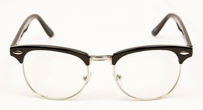 Retro Rectangular Square Hipster Clear Mens Frames Eye