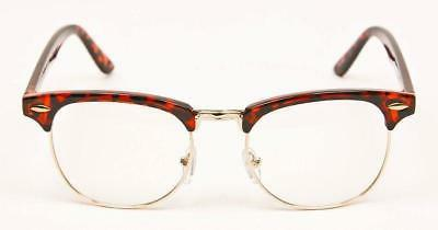 Retro Square Hipster Clear Lens Mens Frames