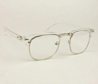 Retro Rectangular Square Hipster Clear Lens Mens Frames Eye