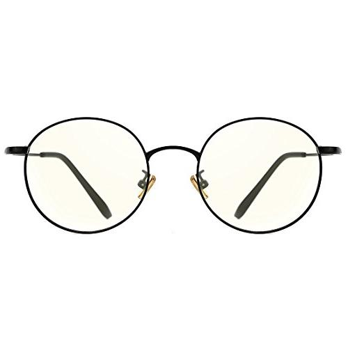 retro round eyewear blue light blocking eyeglasses