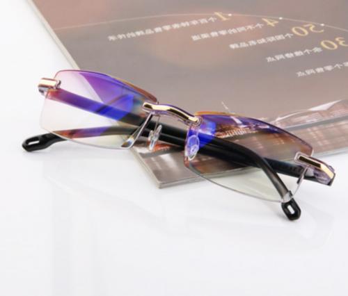 Rimless Reading Glasses Lens Light