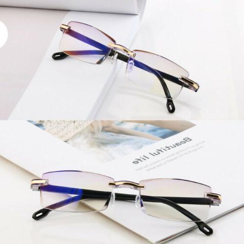 Rimless Glasses Lens Light Computer Glasses