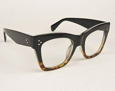 Sexy Large Thick Cat Eye Frames Geek L