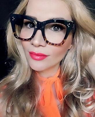 sexy large thick cat eye frames catherine