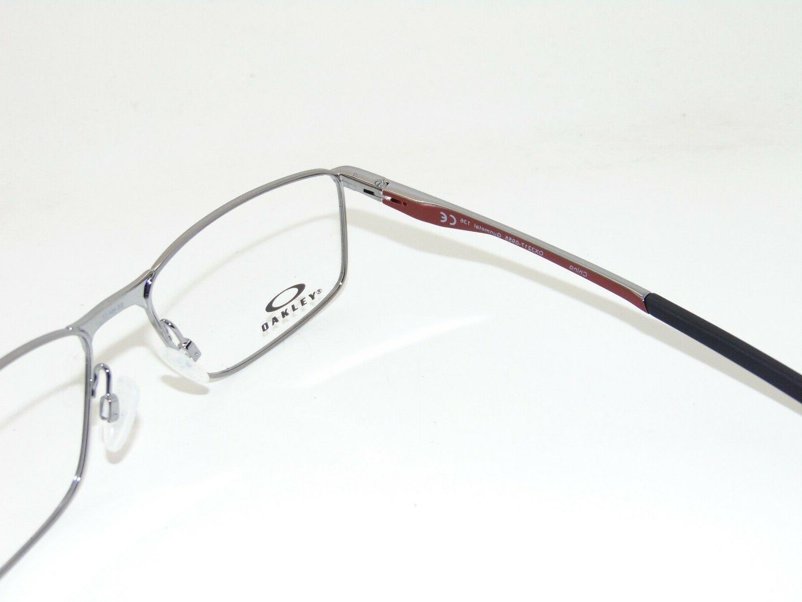 OAKLEY OX3217-0955 Gunmetal/Cardinal 55mm Authentic Eyeglasses