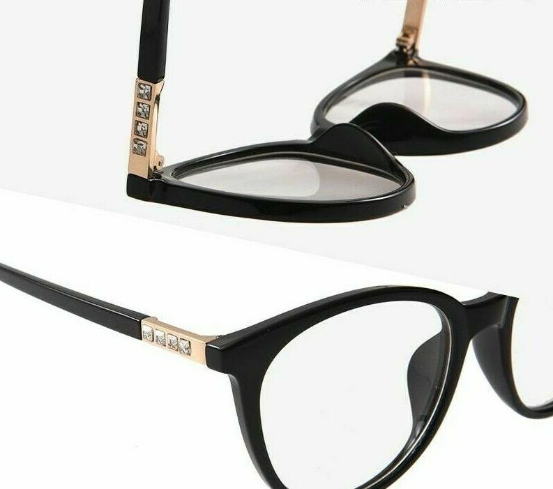 Solid Eyeglasses Clear Lens Thin Fashion Accessories
