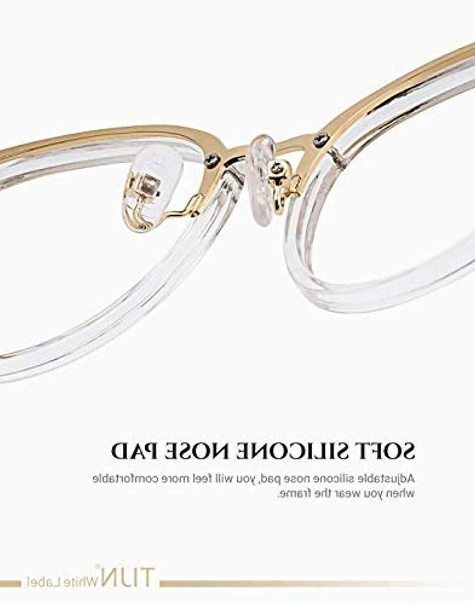 TIJN Metal Optical Eyewear Non-prescription Frame for