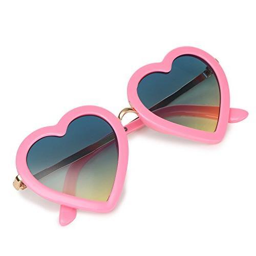 trendy heart shaped sunglasses for toddler girls