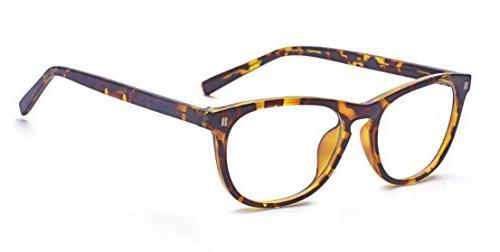 unisex keyhole fashion clear lens eye glasses