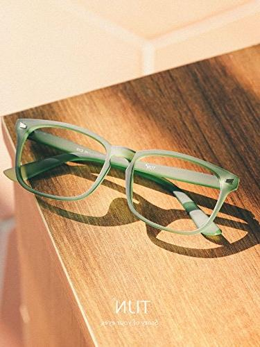 TIJN Unisex Non-Prescription Glasses Eyewear Grace Green