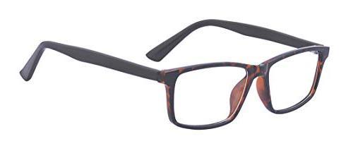unisex retro 80 clear lens glasses rectangular