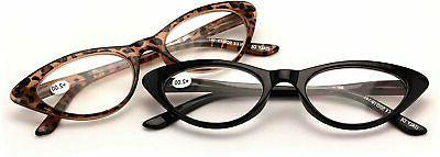 V.W.E. 2 Pairs Female Vintage Reading Glasses Readers