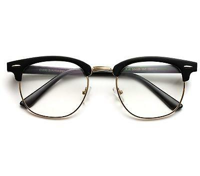 Vintage Inspired Frame Clubmaster Clear Glasses