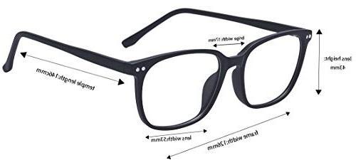 Outray Vintage Glasses Frame Clear Glasses Black