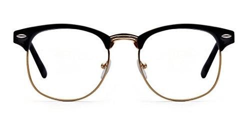 Outray Half Frame Horn Clear Men Women 2135c1 Black/Gold
