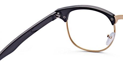 Half Frame Clear Glasses Men