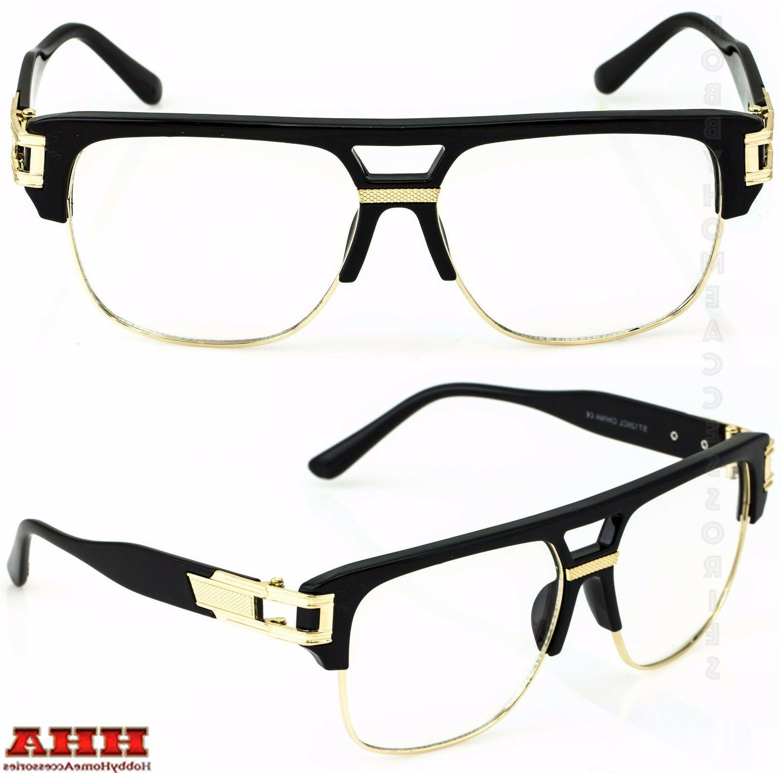 VINTAGE RETRO CLASSIC Hip Hop Style Clear Lens Eye Glasses G