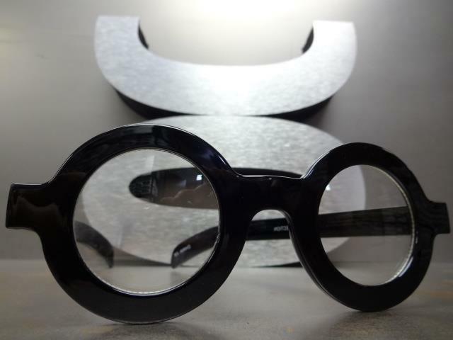 VINTAGE RETRO Style Clear EYE Round Thick Fashion Frame