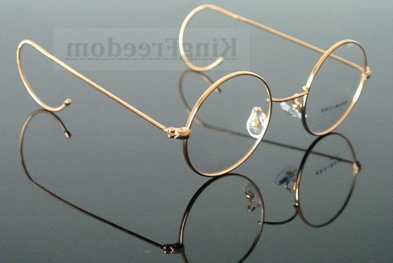 vintage round antique wire rim eyeglass frames