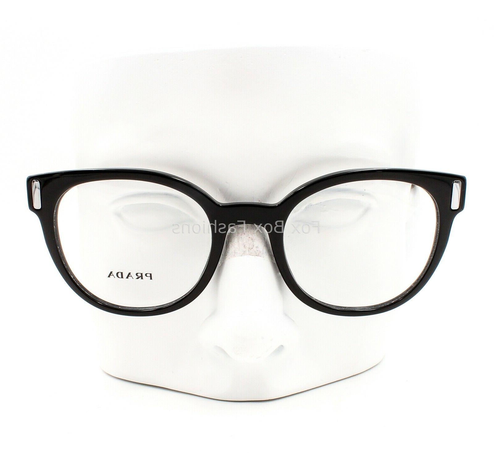 Prada Eyeglasses Black on Havana Size 50-20-135
