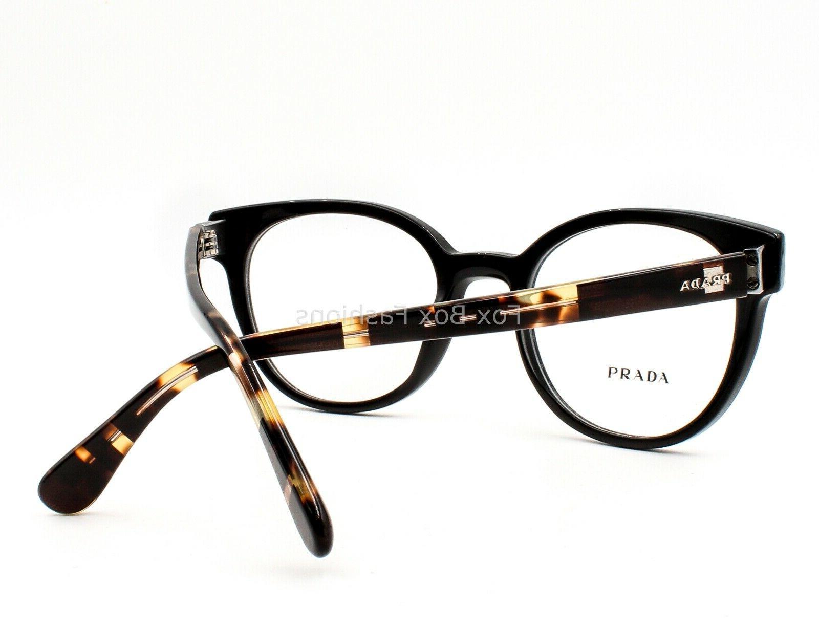 Prada VPR 06T 1AB-1O1 Eyeglasses on Size 50-20-135